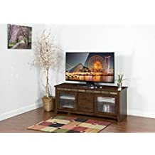 "Sunny Designs Oxford 62"" TV Stand in Dark Oak"