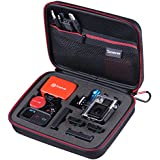 """Smatree SmaCase G160 - Medium Case for Gopro Hero 4/3+/3/2/1 and Accessories (8.6"""" x6.7"""" x2.7"""") - Black & Red"""