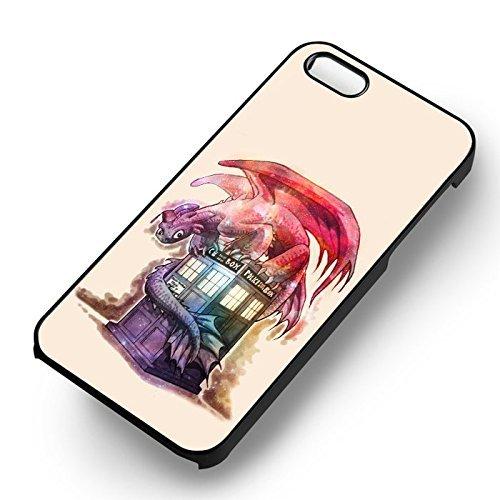 Toothless & Tardis pour Coque Iphone 6 et Coque Iphone 6s Case (Noir Boîtier en plastique dur) C7T5UU