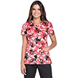 Dickies EDS Signature by Women's V-Neck Butterfly Print Scrub Top