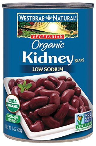 Westbrae Natural Organic Kidney Beans, 15 Ounce - Light Red Kidney Beans