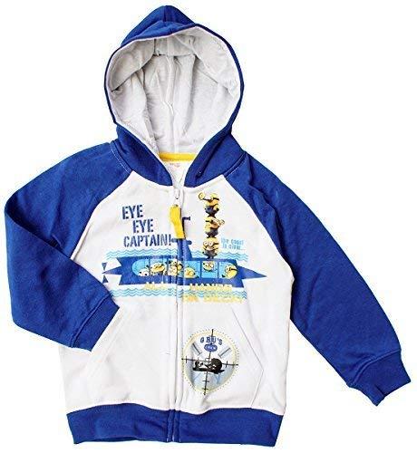 Despicable Me Niños Capitán Minions Sudadera con Cremallera Sudadera Top Tallas Desde 3 A 8 años - Blanco/Azul Marino, 3 Years: Amazon.es: Ropa y accesorios