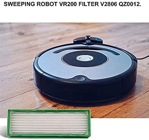 Deasengmins Piezas de la aspiradora Robot Robot de Lote WeightLight para Vorwerk Kobold Vr200 Vr200 Filtro Hepa de Repuesto 2 Cepillo Lateral - Verde y Blanco: Amazon.es: Hogar