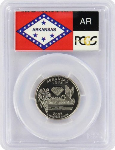 - 2003 Arkansas State S Clad Proof Quarter PR-69 PCGS