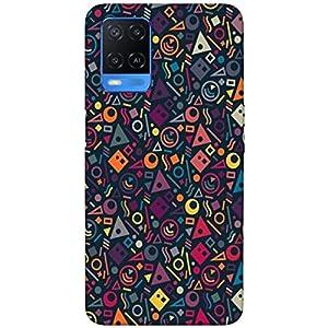 SharpEseller Multicolour Flower Designer Multi Coloured Silicone Mobile Back Cover for Oppo A54 5G