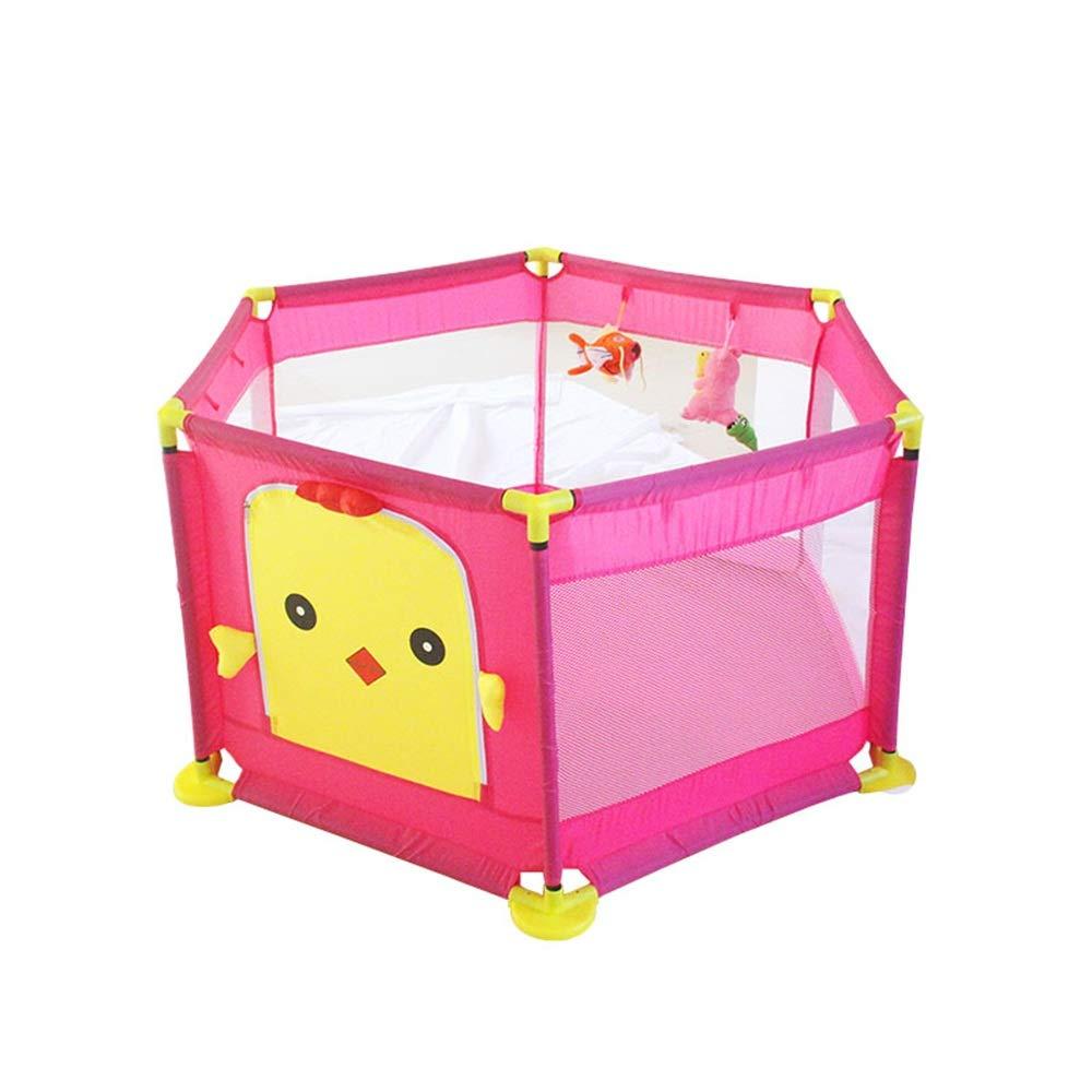 LHA ベッドガードフェンス ベビーシャッター抵抗フェンスベッドガードレール子供フェンス屋内幼児安全クロールマット (色 : Pink)  Pink B07L2LXF79
