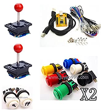 1 kit for Juyao Arcade to USB controller 2 player MAME
