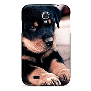 Awesome QfG1111vngy Rewens Defender Tpu Hard Case Cover For Galaxy S4- Rottweiler Puppy