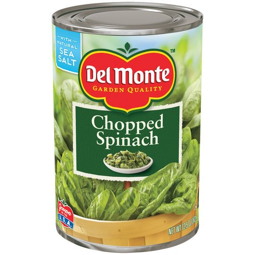 Del Monte Spinach - Del Monte Chopped Spinach 13.5oz Can (Pack of 6)