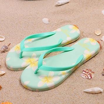 XIAMUO Frau flower flip flops Summer fashion Koreanische Version des flachen nicht niedlich einfach Strand sandals...