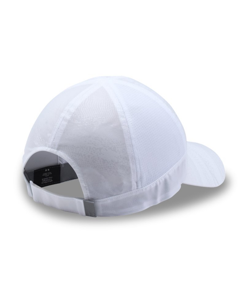 Under Armour Women's Fly by ArmourVent Cap, White (101)/Silver, One Size by Under Armour (Image #2)