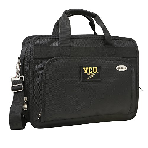 NCAA Virginia Commonwealth Rams Expandable Laptop Briefcase, 13-Inch, Black by Denco