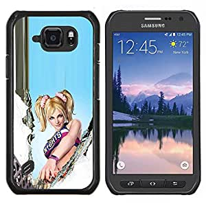 LECELL--Funda protectora / Cubierta / Piel For Samsung Galaxy S6Active Active G890A -- L0Llipop Chainsaw --
