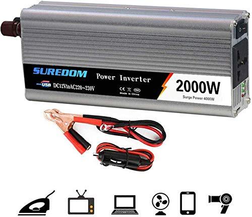 DJNBQ Power Inverter 1000W 1500W 2000W (potencia continua) 12 ...