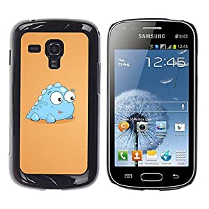 Impact Case Cover with Art Pattern Designs FOR Samsung Galaxy S Duos S7562 Little Dinosaur Light Blue Creature Cartoon Art Betty shop