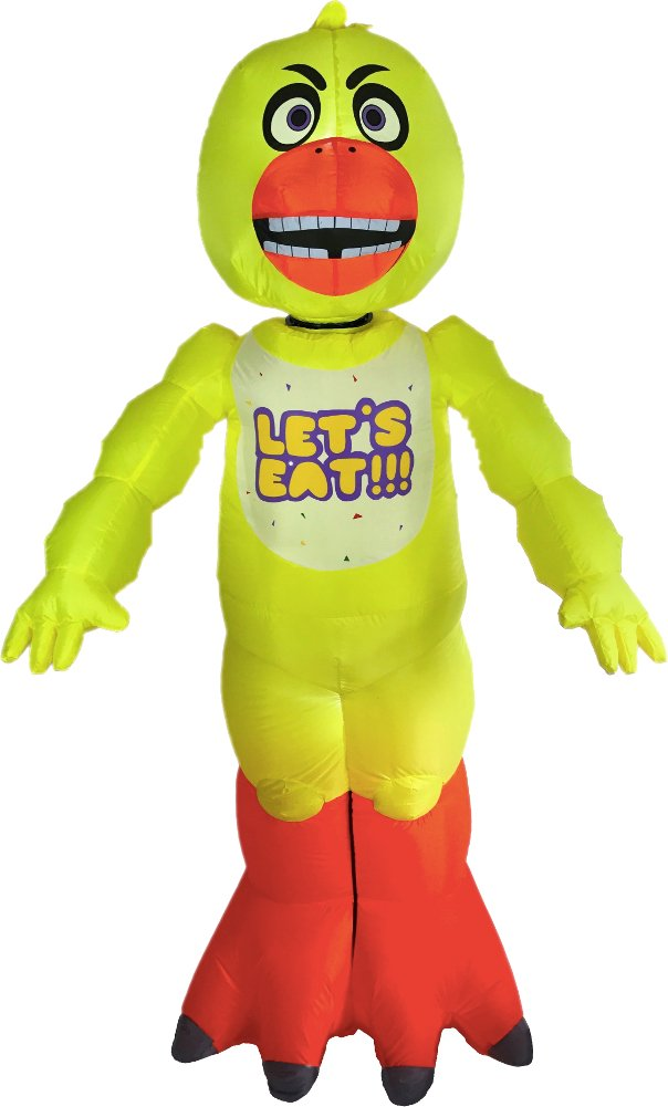 Morbid Enterprises Five Nights At Freddy's Chica Inflatable Yard Decoration