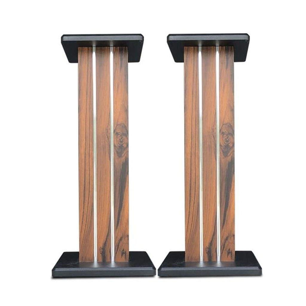 Speaker Stands A Pair of Speaker Brackets Sanding Wooden Surround Sound Rack Floor-Standing Living Room Display Stand (Color : Wood Color, Size : 90cm (35.4inches)) by Speaker Stands