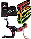 Fabric Resistance Bands Set - Booty Hip Bands for Legs, Shoulders and Arms Exercises - Perfect for Fitness, Glute or Squat Workout - 3 Non-Rolling Thick Circle Bands for Women and Men - Great GlFT