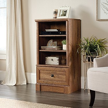 Sauder Palladia 3 Shelf Audio Rack in Vintage Oak (Audio Sauder)