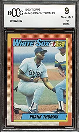 Amazoncom 1990 Topps 414b Frank Thomas Chicago White Sox