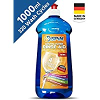 SPIN Dishwasher Detergent Rinse Aid Liquid , 1000ml, MADE IN GERMANY