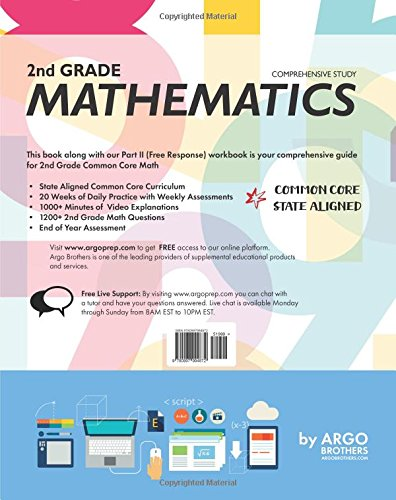 Argo Brothers Math Workbook Grade 2 Common Core Multiple Choice