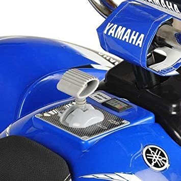 amazon com yamaha raptor atv 12 volt battery powered ride on blue rh amazon com