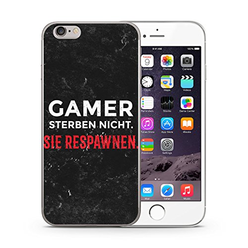 Gamer Sterben Nicht. Sie Respawnen. iPhone 6 & 6S SLIM Hardcase Hülle Cover Case Schutz Schale Fun Funny Gaming