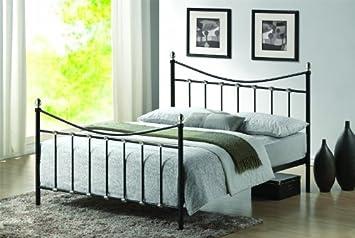 Stickbase Ltd Oban Black Metal Bed Frame Double Size Bed Amazon Co