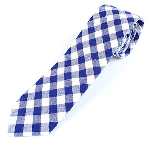 Buy light blue and white checkered dress - 5