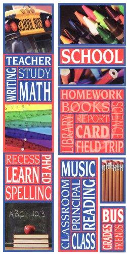 School Photo Banner Cardstock Scrapbook Stickers (Cloud 9 Design Photo Banner)