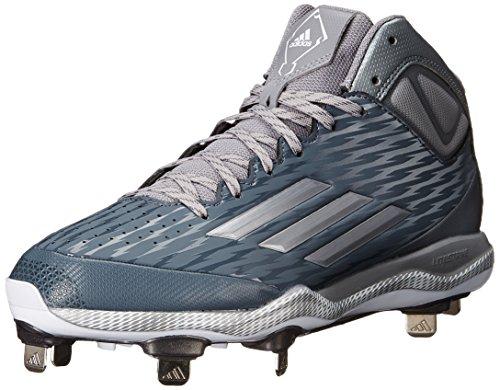 Adidas Performance Mens Poweralley 3 Mid Baseball Scarpa Onix / Tegrey Metallic / Bianco