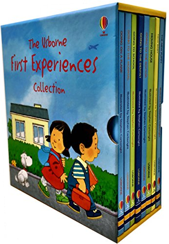 Usborne First Experiences Collection 8 Books Box Set By Anne Civardi (Going on a Plane, Going to the Hospital, Going to School, Going to the Dentist, Going to the Doctor, Moving House, The New Baby, T (Going To The Dentist By Anne Civardi)