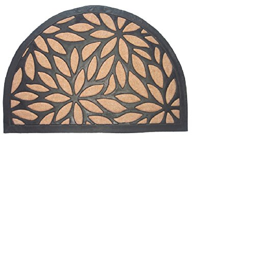 Imports Decor Synthetic Half Round Petal Door Mat, 16