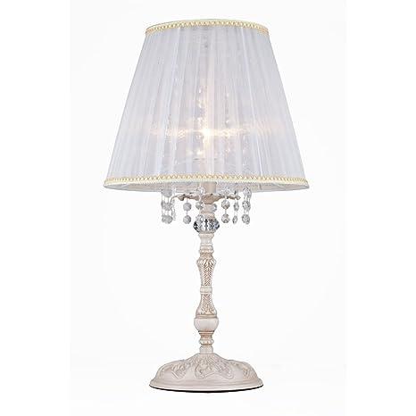 Elegante lámpara de mesa// - Lámpara de mesa, cristal antiguo ...