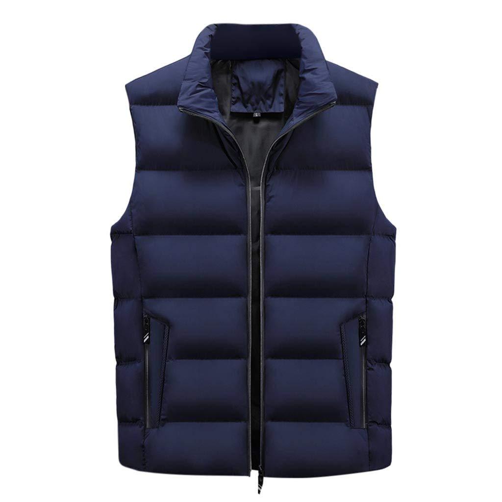 F_Gotal Mens blazer Men's Lightweight Water-Resistant Packable Puffer Vest Dark Blue by F_Gotal Mens blazer
