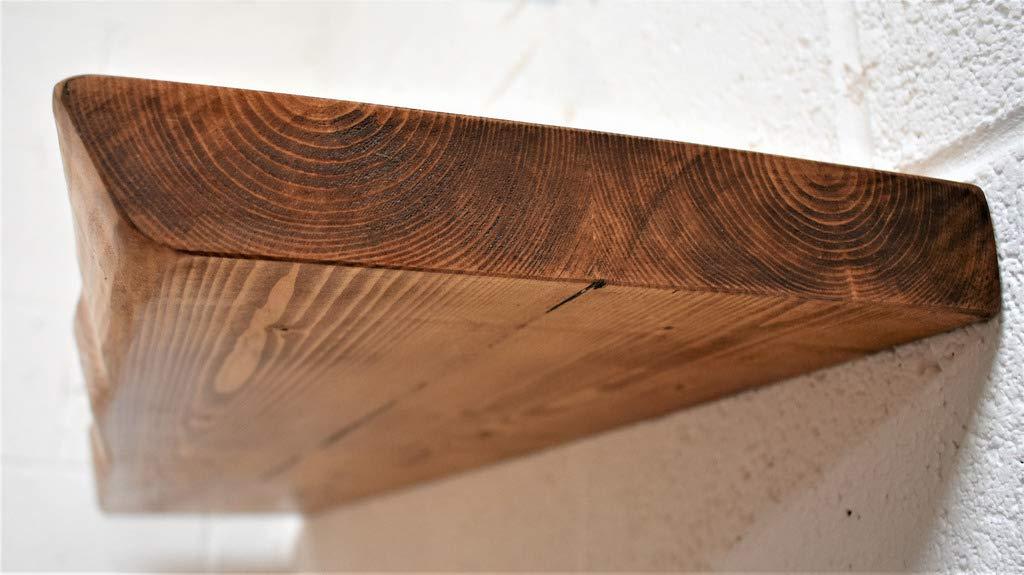 Teak Estante Flotante r/ústico 160 cm Chill House Floating Shelves Waney//Live Edge