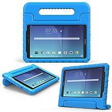 MoKo Samsung Galaxy Tab E 8.0 Case - Kids Shock Proof Convertible Handle Light Weight Super Protective Stand Cover for Samsung Galaxy Tab E 8.0 Inch SM-T377 4G LTE Tablet, BLUE