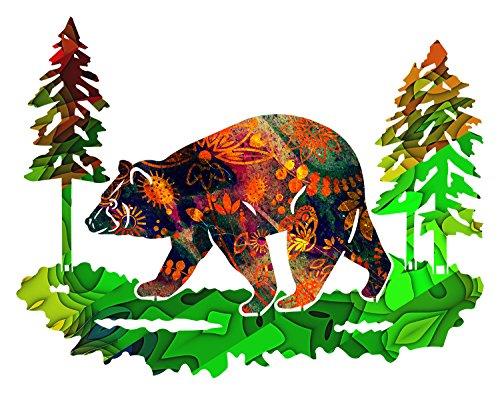 Next Innovations Metal Bear Wall Art Saffron Medium Bear