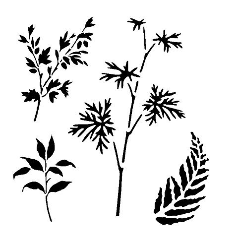 branches & leaves stencil 1. Choose size and thickness.