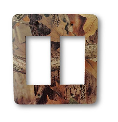 - Advantage Timber Camo Metal Outlet Switch Cover - Double Rocker / GFCI