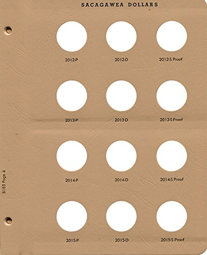 Dansco Page 4 for Sacagawea Dollar Album with Proof 8183 2012 - 2015 #8183-4
