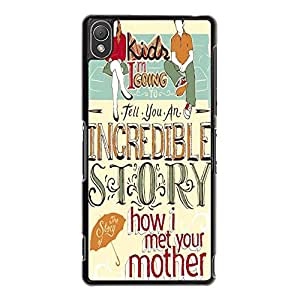 Cover Shell Funny Pattern Love Comedy TV Show How I Met Your Mother Phone Case Cover for Sony Xperia Z3 Himym Classical