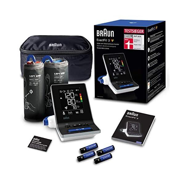 Braun ExactFit 3 Tensiomètre Bras Pour Un Usage Domestique Avec 2 Brassards De Tailles Différentes, BUA6150WE