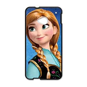 HTC One M7 Cell Phone Case Covers Black Frozen Character Anna O1654930