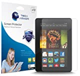 Tech Armor Kindle Fire HDX 7 Screen Protector, High Definition HD-Clear Amazon Kindle Fire HDX 7 (2013) Film Screen Protector [3-Pack]