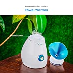 NanoSteamer - Large 3-in-1 Nano Ionic Facial Steamer with Precise Temp Control - 30 Min Steam Time - Humidifier - Unclogs Pores - Blackheads - Spa Quality - Bonus 5 Piece Stainless Steel Skin Kit