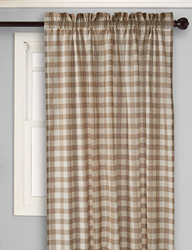 Achim Home Furnishings Buffalo Check Window Curtain Panel