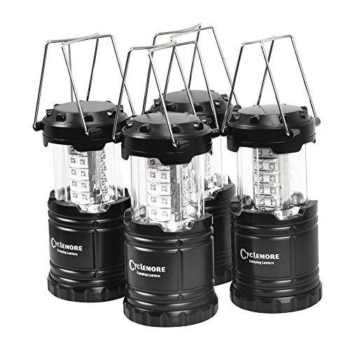 4 Pack,Portable LED Camping Lantern,Outdoor Flashlights.Water Resistant Ultra Bright 30 LED Lantern for Hiking,Emergencies,Hurricanes,Outages,Storms,Camping,Fishing.(Batteries Not Included)