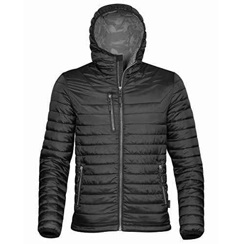 (Stormtech Mens Gravity Hooded Thermal Winter Jacket (Durable Water Resistant) (M) (Black/Charcoal))
